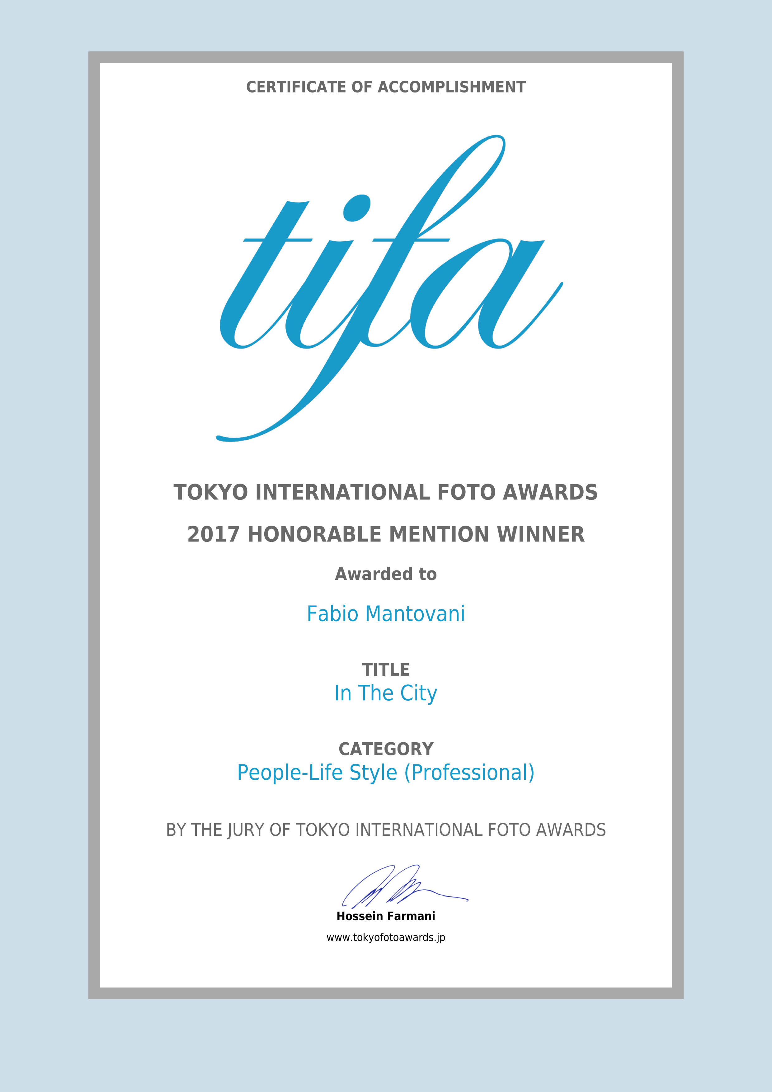Tifa Award 2017-In the City